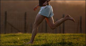 Barefoot Running grass